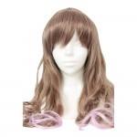 萬聖節長波棕色紫色 假髮