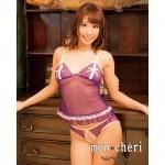 Mon Chéri 紫精靈蕾絲短睡衣
