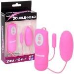 日本Toysheart Double Head 超快感奈米 雙跳回憶震蛋 - 粉紅色