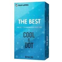 日本不二 - The Best COOL&DOT 冰感突粒橫紋套 (8片)