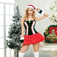 Christmas fun uniforms ladies sex pajamas