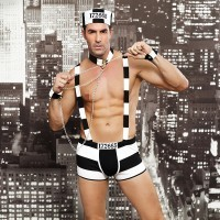 Men's personality, alternative, sexy uniform, male prisoner, clothing