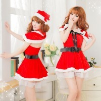 Halloween costumes new Christmas clothes Christmas split set shawl Christmas clothes