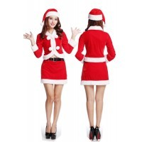 Christmas uniforms temptation sexy big ball New Year's Eve midnight dating gentle red elven clothing