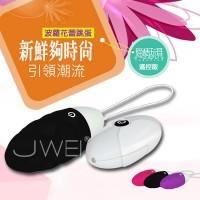 時尚波蘿-10段變頻軟膠無線時尚防水靜音單震蛋-遙控版(黑)