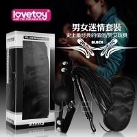 黑色天使套装1 -SM超值禮盒組(眼罩+口塞+皮鞭)