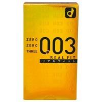 日本Okamoto 0.03 Real Fit 岡本0.03完全貼身 安全套10片
