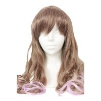 Halloween Long Wave Brown Purple wig