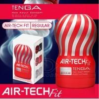 日本TENGA AIR-TECH FIT 舒適空壓飛機杯-標準型 (紅) 可重複使用