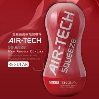 日本TENGA AIR-TECH SQUEEZE 軟殼增壓重覆使用飛機杯-標準紅