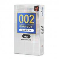 日本Okamoto 岡本200%潤滑 雙倍水潤 0.02 安全套6片裝