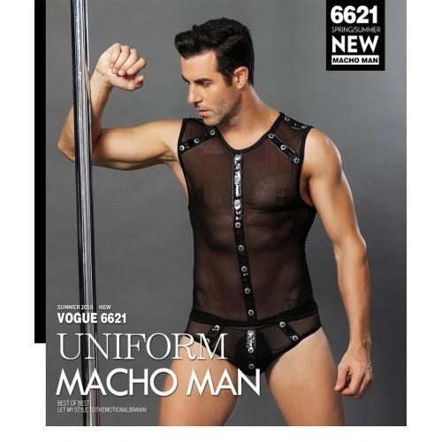 男士連體情趣內衣誘惑男同酒吧表演服