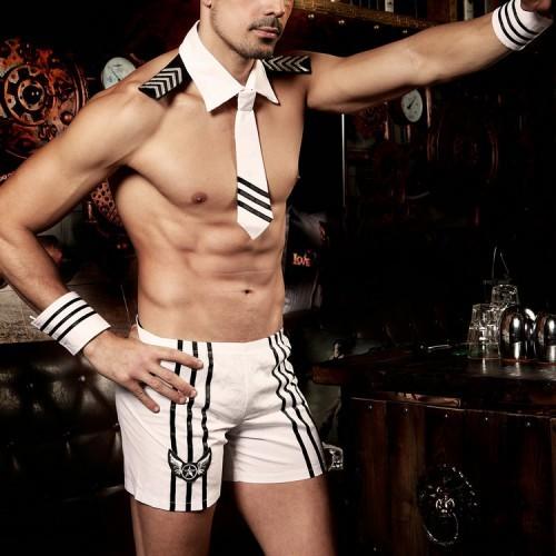 男款性感白色海軍裝男士情趣制服