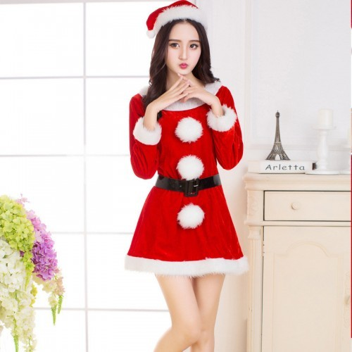 聖誕裝女式萬聖節耶誕節舞臺演出表演服裝