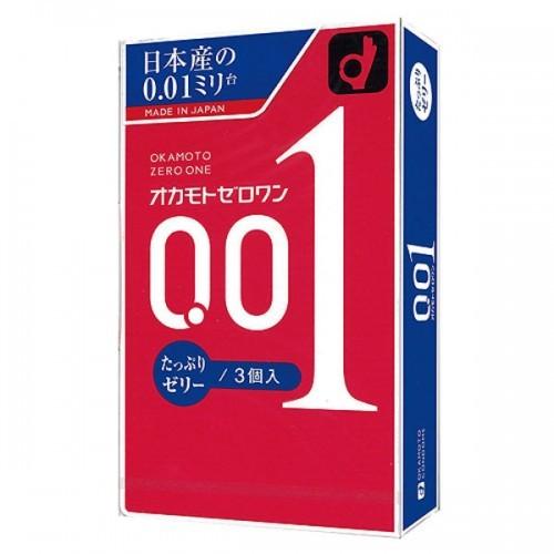 日本版 岡本 0.01 水潤型安全套 (2倍潤滑)